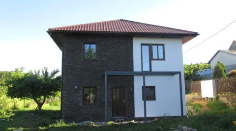 Fasáda na novostavbě rodinného domu, Jihlava